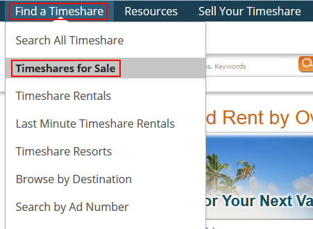 How to find timeshares for sale on SellMyTimeshareNow