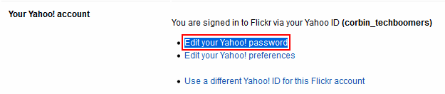 Edit your Flickr password