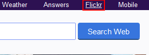 Go to Flickr from Yahoo