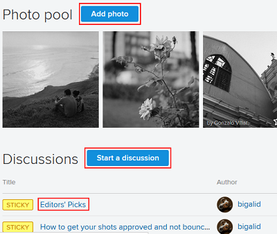 Follow other Flickr users