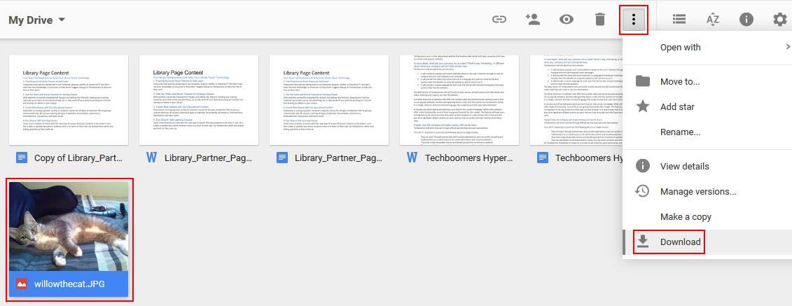 how to to put google drive folders on a usb