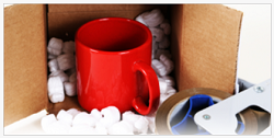 Coffee mug packaged safely in a box
