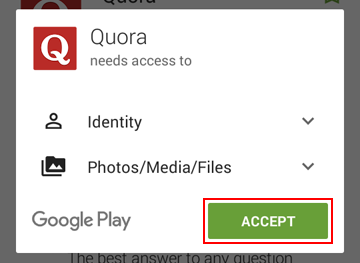 How to give the Quora app permissions on your device