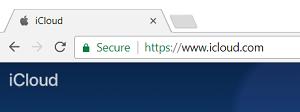 iCloud.com in web browser