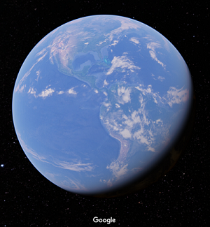 Google view of the Earth from space