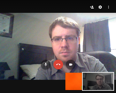 Google Hangouts video call screen