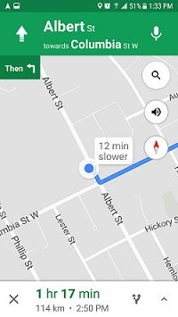 Google Maps navigation screenshot