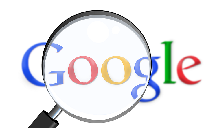 Google Search logo with a magnifying glass
