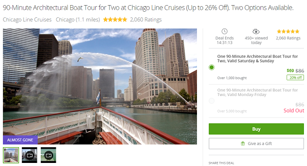 Groupon date idea for a cruise