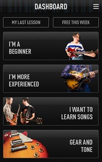 Guitar Lessons app