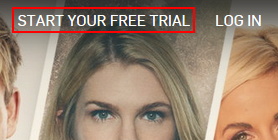 Hulu start your free trial button