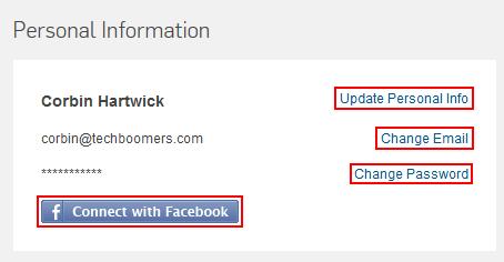 Hulu personal information account settings