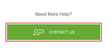 Button to contact Hulu customer service