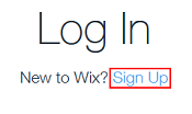 Sign up for a Wix account