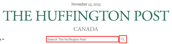 How to search on the Huffington Post