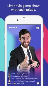 HQ Trivia app welcome screen