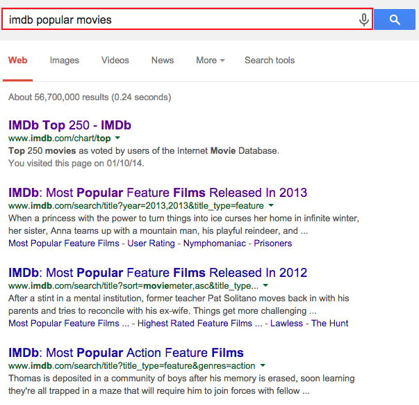 how to find chinese movie from imdb