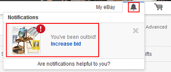 eBay bidding notifications