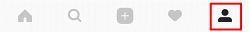 Instagram profile menu