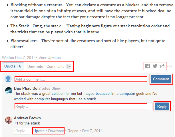 How to interact with answers and comments on Quora