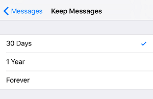 Keep Messages button