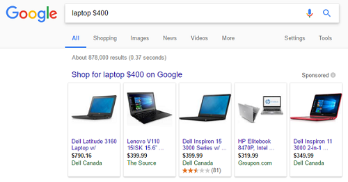 Search for laptops