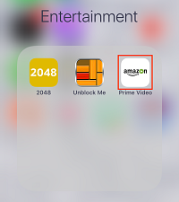 Launch Prime Video app