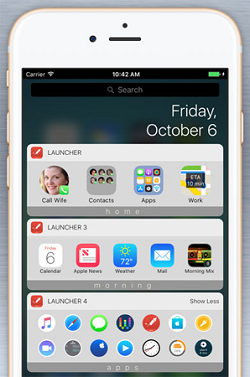 Launcher with widgets