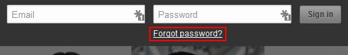 LinkedIn forgot password button