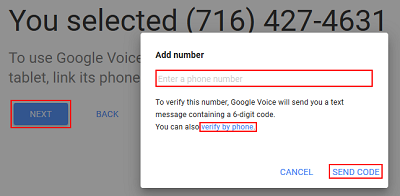 Link Google number to mobile device number