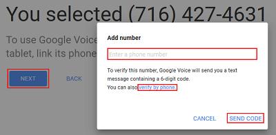 Link Google number to mobile device number