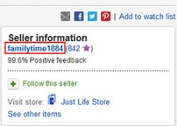 Locate eBay seller