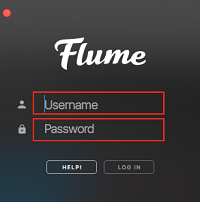 Flume sign in screen