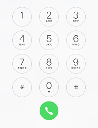 iPhone calling keypad