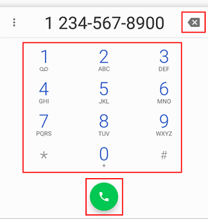 Make a call with the dial pad