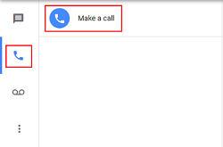 Make a call with Google Voice