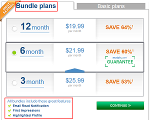 Match.com bundle plans