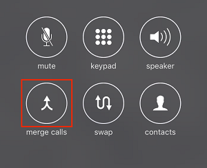 Merge Calls button