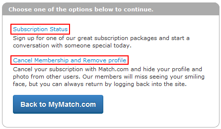 Change subscription status