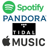 Popular music streaming services logos