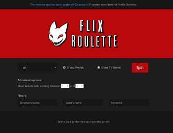 Netflix Roulette website