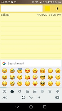 New emojis on keyboard