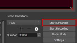 Start Streaming button
