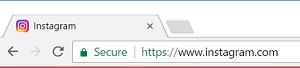 Enter URL to visit Instagram