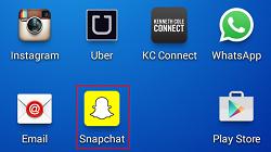 Launch Snapchat app icon