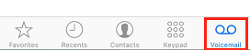 Button to access your Voicemail