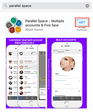 Parallel Space in App Store