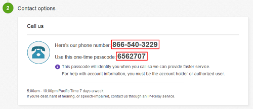Select division of customer service to obtain eBay phone number