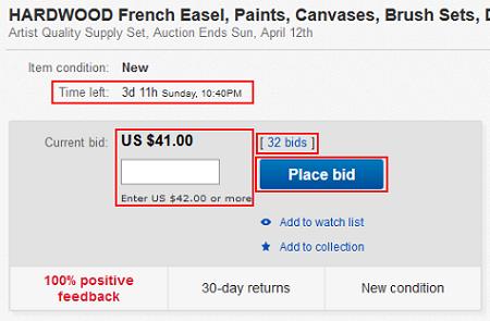 eBay item details