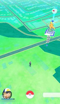 Map in Pokemon Go